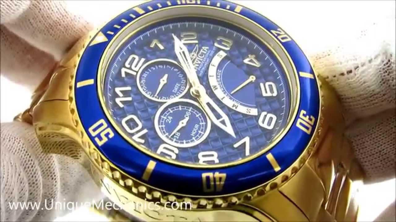 99caaca42 Invicta Pro Diver Review 15342 Gold SS Carbon Fiber dial Mens Watch ...