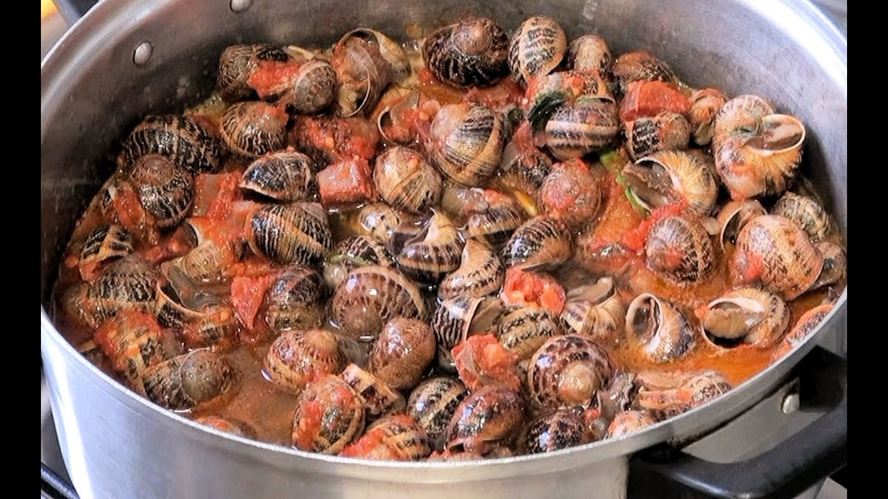 Caracoles guisados v deo receta 17 aqui cocinamos todos for Caracol de jardin alimentacion