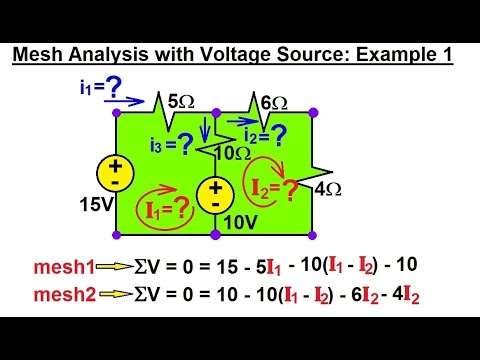 electrical engineering ch 3 circuit analysis (10 of 37) meshelectrical engineering ch 3 circuit analysis (10 of 37) mesh analysis w voltage sources ex 1