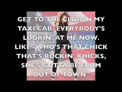 Party In the USA- Miley Cyrus (lyrics on screen)
