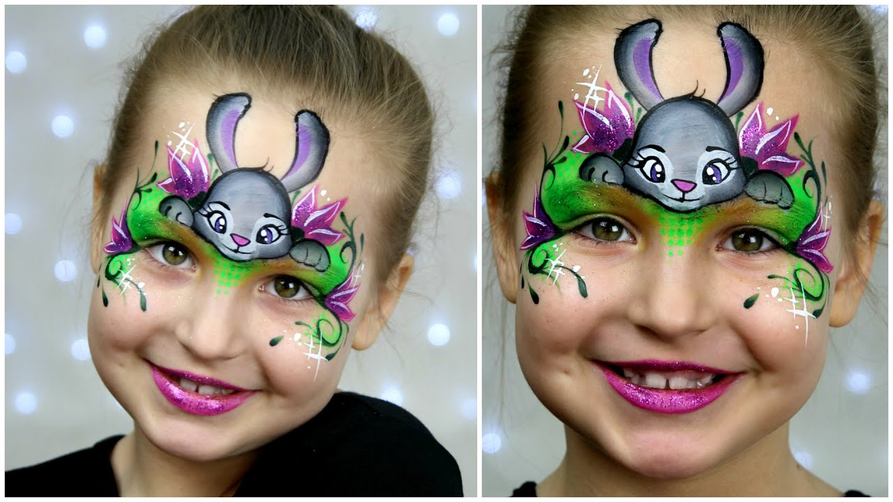 Uncategorized Bunny Face Painting zootopia bunny makeup for kids easter face painting tutorial youtube