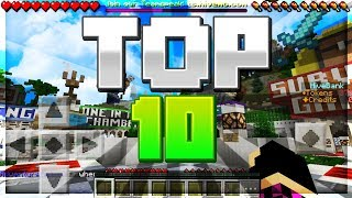 TOP 10 SERVERS for Minecraft Pocket Edition!