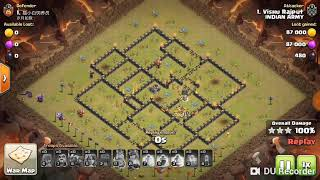 TH10 New Strategy Attacks With wall wrecker🤩. Amazing Trick.  Must Try.