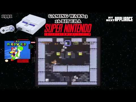 Super Nintendo vs Sega Genesis «4th Generation Video Game Consoles» « GAMING WARS 3 »