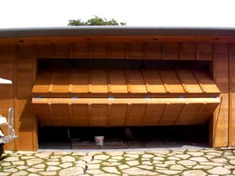 Motorized Folding Garage Door Youtube