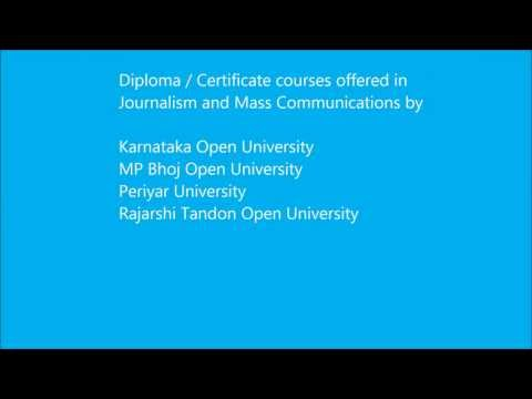 Journalism And Mass Communications Courses Through Distance Education In India