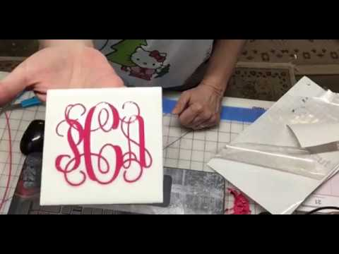 Fancy Monogram Using Silhouette Business Edition (for Cricut Too)!