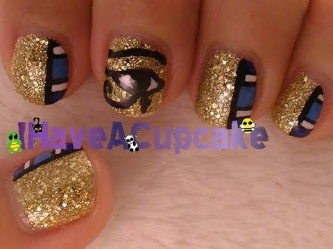 Egyptian Nail Art - Egyptian Nail Art - YouTube