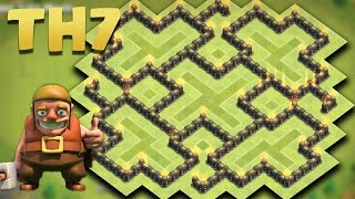 Clash Of Clans - Town Hall 7 (TH7) Farming/Hybrid Base Aug 2016