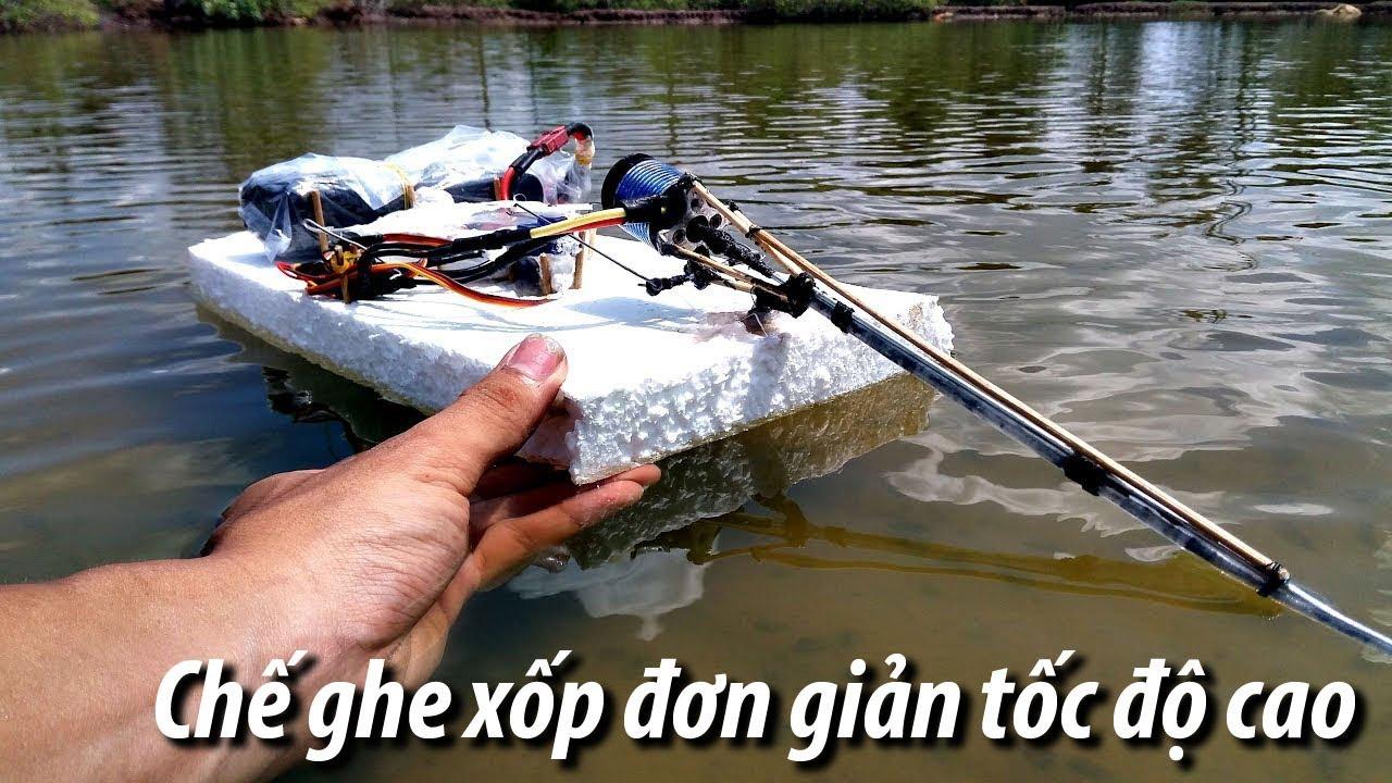 Chế Ghe từ xốp cực đơn giản nhưng rất nhanh | Boat processing is very simple but very fast