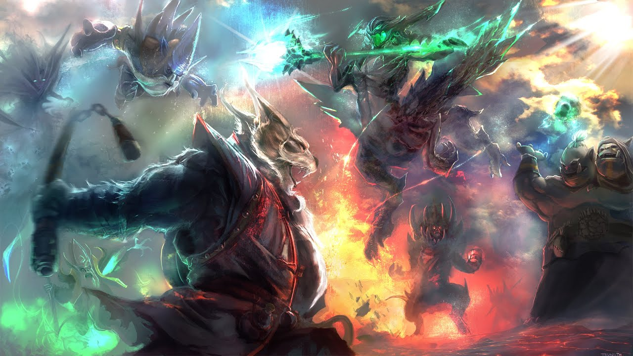 Falling Skies Wallpaper 1920x1080 Dota 2 Digital Painting 300 Subscribers Special Youtube