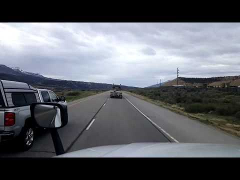 BigRigTravels LIVE! Silt to De Beque Canyon, Colorado Interstate 70 West-April 6, 2018