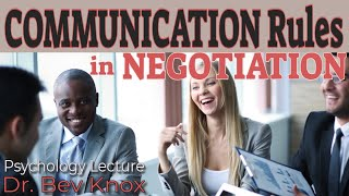 Rules for Communicating Effectively in Negotiation