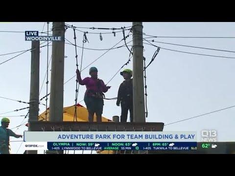 Repeat Ellen visits an adventure park in Woodinville