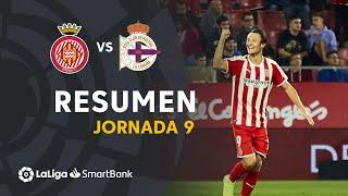 Resumen de Girona FC vs RC Deportivo (3-1)