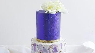 Super Cute Purple Glitter Cake- Rosie's Dessert Spot thumbnail
