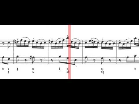 BWV 1035 - Flute Sonata in E Major (Scrolling)