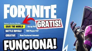 NOW YOU CAN GET *SAVE THE WORLD* TOTALLY FREE on FORTNITE! (3 EASY STEPS)