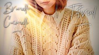 Осенний шикарный джемпер спицами Cucinelli мастер-класс СХЕМА 👌 How To Knit Beautiful Sweater