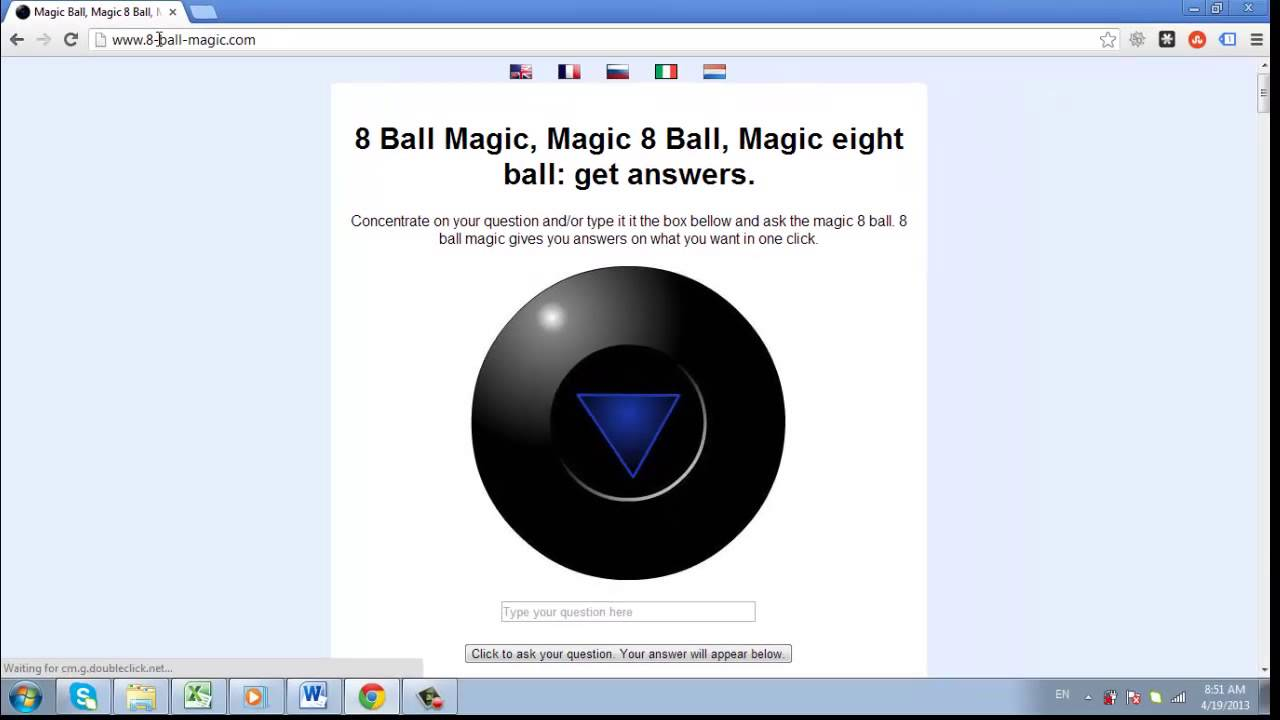 Ask Questions And Get Answers Online With Magic Ball 8