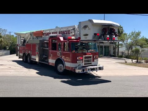 Tampa Fire Rescue Truck/Rescue 13 Responding