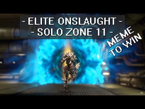 Warframe - Solo Elite Onslaught - Zone 11 - 947K Points
