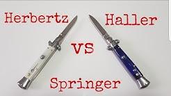 Springmesser Vergleich Haller Stiletto gegen Herbertz Springer