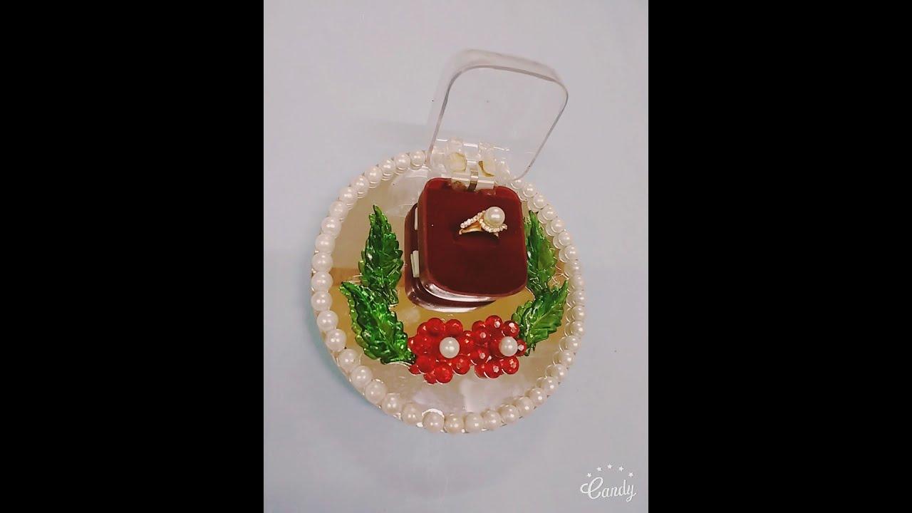engagement ring platter ring box decoration wedding