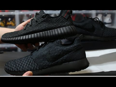 bdb507feb841 HOW TO MAKE ROSHE PIRATE BLACK 350 YEEZY BOOST NIKEID - YouTube