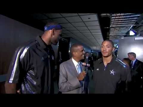 Derrick Rose and Lebron James Interview: All Star Game - 2011