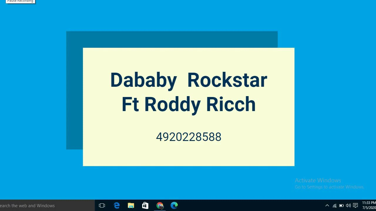 Roblox Song Id For Rockstar Dababy