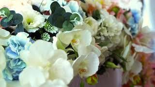 Свадьба в ресторане Вернисаж, отель Амбассадор. Оформление зала и выездная церемония СПб