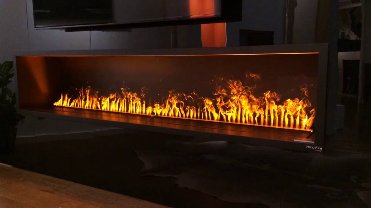 Nero Fire Design Fireplace with Opti