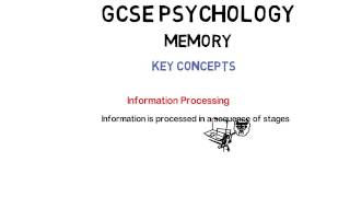 GCSE Psychology: Memory: Key Concepts