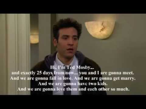 John Swihart- You're all alone (Ted Mosby Speech)