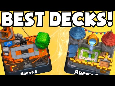 Clash Royale BEST ARENA 6 ARENA 7 DECKS UNDEFEATED | BEST ATTACK STRATEGY GAMEPLAY TIPS F2P PLAYERS