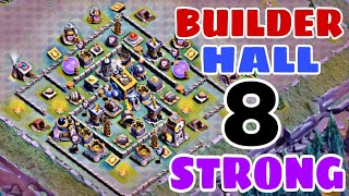 STRONG BUILDER HALL 8 BASE LAYOUT w/PROOF | BH8 BEST DEFENSE BASE 2018 | Clash of Clans