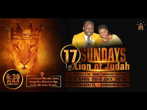 Sun. 29th July 2018, Live With Apostle Johnson Suleman