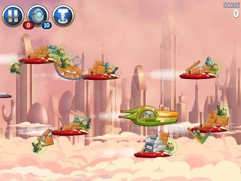 Angry Birds Star Wars 2 Rise of the Clones Level B4-7 (Bird Side Side) walkthrough tutorial showing you one way to get 3  stars without Power Ups or Telepods.