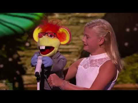 Must Watch! Incredible 12 Year Old Girl  Singing Puppet Amazing Performance! Standing Ovation!