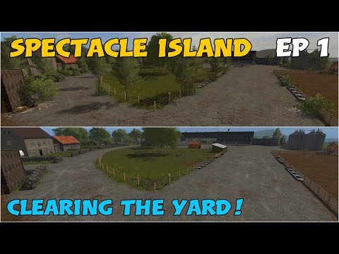 Let's Play Farming Simulator 17 PS4: Spectacle Island, Ep 1 (Clearing the Yard!)