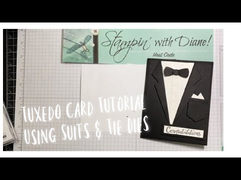 An Amazing Tuxedo Card made with the new Suit and Tie Dies