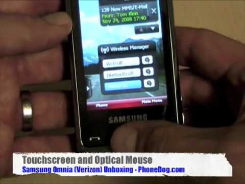 Samsung Omnia (Verizon) - Unboxing and Hands-On