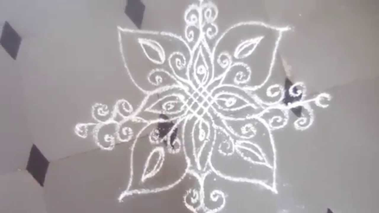 kolam designs for daily at home - YouTube