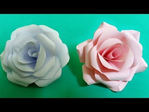 Cách Làm Hoa Hồng Bằng Giấy đơn Giản Nhất   DIY Paper Roses Tutorial