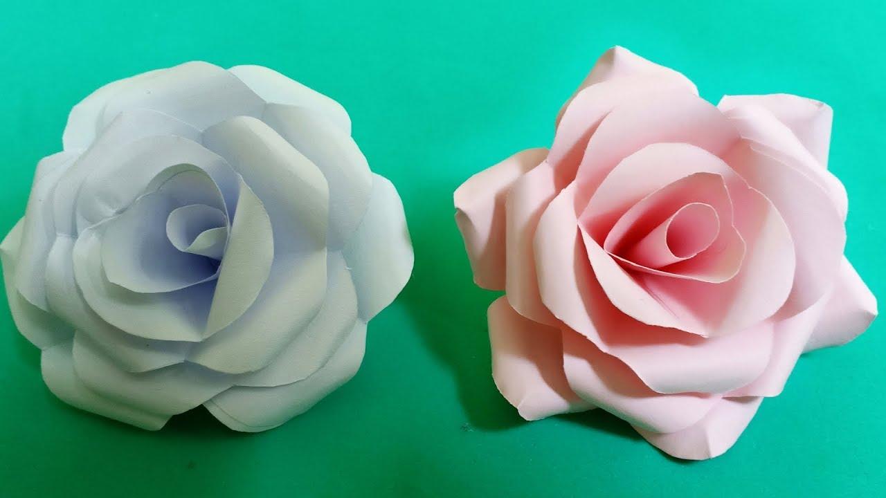 Cách làm hoa hồng bằng giấy đơn giản nhất | DIY Paper Roses Tutorial