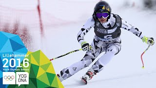 Super-G - Nadine Fest (AUT) wins Ladies' gold | ​Lillehammer 2016 ​Youth Olympic Games​
