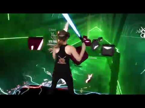 Beat Saber - Mixed Reality || Radioactive - Imagine Dragons ft. Kendrick Lamar (Expert+) & Giveaway!