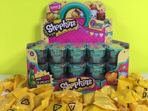 Shopkins Season 3 Palooza  Limited Edition Hunt Blind Baskets Full Box Unboxing | PSToyReviews