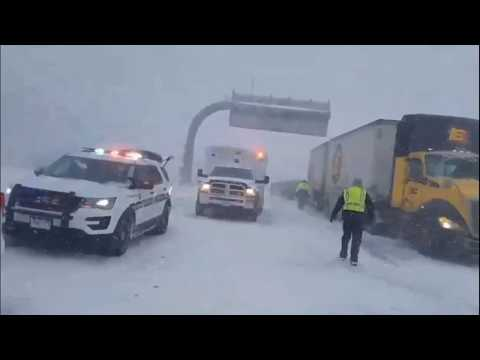 20 cars pileup on I-70 east of Frisco,  Colorado 11/24/2018